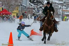 Winter Carnival street events. Photo by Larry Pierce, Feb. 8, 2014 Steamboat Springs, CO