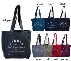 Marc BY Marc Jacobs ECO Tote Book Cotton BAG Many Colors | eBay