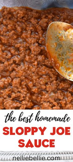 Better than a can and sooo easy! This homemade sloppy joe sauce your whole family will love. Fast, easy, and hearty.a great weekday dinner idea! meat recipes easy dinner ideas families the BEST Homemade Sloppy Joe Sauce ⋆ NellieBellie Crunchwrap Supreme, Homemade Sloppy Joe Mix, Meat Recipes, Cooking Recipes, Rabbit Recipes, Recipies, Dinner Recipes, Healthy Recipes, Quiche