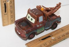 "MATER CHARACTER DISNEY PIXAR CARS TOW TRUCK 3.25"" TOY FIGURE ROLLING VEHICLE #Disney"