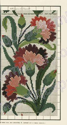 Cross Stitch Borders, Cross Stitch Rose, Cross Stitch Flowers, Cross Stitch Charts, Cross Stitch Designs, Cross Stitching, Cross Stitch Embroidery, Embroidery Patterns, Hand Embroidery