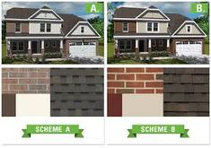 ranch house red brick and siding color combinations - Google Search