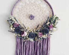 Large Boho Dreamcatcher | Dried Flowers | Floral Wallhanging | Floral Dream Catcher | Bohemian | Boho Style | Nursery Decor | Wedding