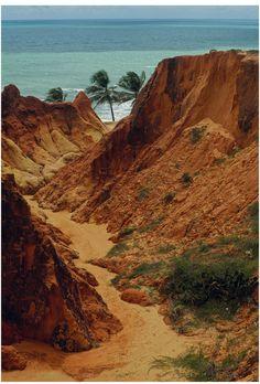 Morro Branco beach,Cearà, north-east of Brazil
