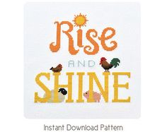You Are My Sunshine Cross Stitch Pattern available for instant download via Etsy.    Pattern Details:  This pattern is in PDF format and consists of an example photo, a floss list, and a color symbol chart. You can see a small sample of the color symbol chart in the last photo. General instructions on how to make the item as shown will also be provided. In order to view and print the files, you will need a PDF reader which you can download free at http://get.adobe.com/reader&#x...