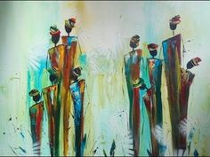 Painting abstract figures, abstrakte Figuren malen - YouTube