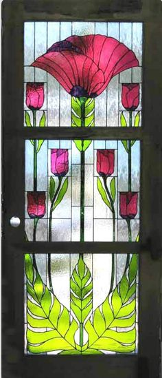 Art Nouveau ~ stained glass door