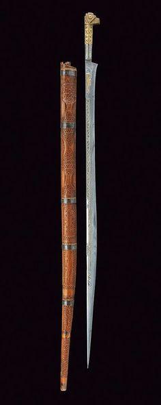 Flyssa Sword with Scabbard      -- Dated: circa 1900     -- Place of Origin: Algeria