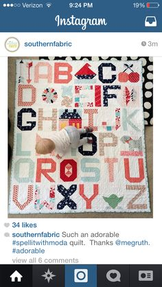 Spell it with moda - I love those filler blocks!