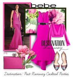 """Destination Runway with bebe : Contest Entry"" by judymjohnson ❤ liked on Polyvore featuring mode, Bebe, Judith Leiber, Seabrook et OKA"