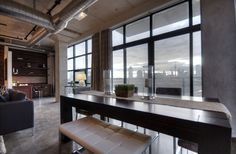 Toronto Lofts, Flat Panel Tv, Bedroom Office, Built Ins, Dining Bench, New Homes, The Unit, House, Furniture