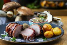 Panenka v slaninke s dubákovou omáčkou - recept | Varecha.sk