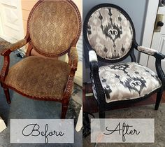 Chair Makeover by laurelhouseproject, with details on the chair upholstery