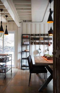 Concrete Floors + Simple Table + Storage