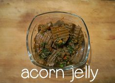 racheerachh eats: Acorn Jelly (도토리묵)
