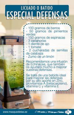 M s de 1000 im genes sobre infografias en pinterest verde tomates verdes y recetas - Alimentos para subir las defensas ...