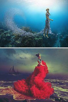 Natalie Lennard, aka Miss Aniela, crafts surreal fashion photography that fuses fantasy with reality.