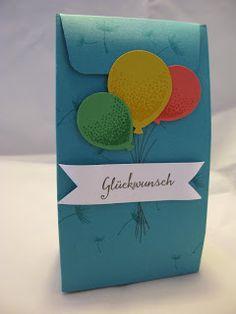 Stampin mit Scraproomboom - Stampin' Up! - Geschenktüte - Partyballons
