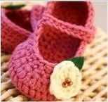 Crochet Baby Girls Shoes. These gorgeous mary jane style shoes are ideal first walker shoes with a button strap and come in sizes 0-3 months (9cm) 3-6 months (10cm) 6-12 months (11cm). $15 + $4.50 postage Australia wide. International shipping upon request.  Email: bubblesbuttercups@yahoo.com.au https://www.facebook.com/BubblesButtercups?ref=tn_tnmn