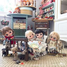 """""""We love lazy mornings , all snuggled up in bed. Tea with milk and sugar , jam spread thick on bread. One does require a little skill to keep the tea from spilling . But the pleasure of such decadence is really rather thrilling!"""" #breakfastinbed  #lazymorning  #sisters  #vainilladolly  #hanon  #zolala #dewdropteddybears  #domenicamoregordon  #inkarno_art  #lettysbears #blythe  #blythedoll  #dollphotography  #livethelittlethings  #breadandbutter  #tea #vintage  #patchwork  #haberdashery…"""