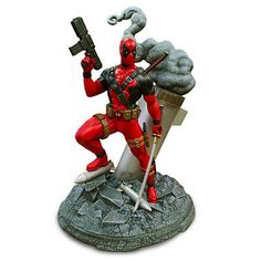 Super Hero 2593: Disney Store Marvel Deadpool Deluxe Model Kit New In Box 8 Tall -> BUY IT NOW ONLY: $39.5 on eBay!