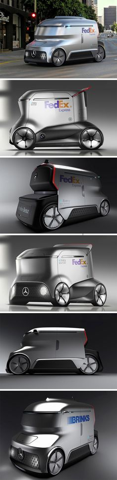 The Mercedes-Benz E.livery aims to make last mile deliveries possible even in tight squeezes. This modern EV operates in absolute autonomy, coordinating with larger freight carriers and directly with customers to ensure timely and efficient delivery of goods and packages.