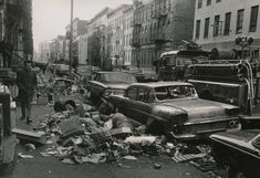 Dirty Old 1970's New York City - Garbage strike, 1968