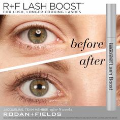 """After using Lash Boost for two months, I really began to see a difference. My friends and co-workers began to comment on how beautiful they were. I don't usually wear makeup so having longer-looking, fuller-looking lashes that are 100% real made me feel extra confident!"" –R+F Team Member, Jacqueline.   #RFLashBoost"