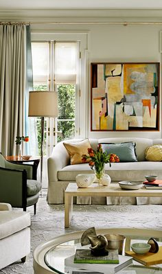 Eclectic Living Room Design Barbara Barry