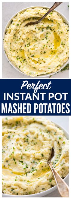 The BEST Instant Pot Mashed Potatoes with Parmesan and Herbs. Ultra creamy, smooth, EASY recipe that comes together quickly in the pressure cooker. Perfect for Thanksgiving! Delicious on its own, simple to make ahead for a crowd, and even healthy thanks to Greek yogurt, so you can eat MORE! #mashedpotatoes #instantpot #pressurecooker #ThanksgivingRecipes #holidays