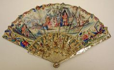 Fan    18th century,    French,    mother-of-pearl, paper