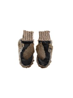 Bellish chic fur leather mittens gloves - By Malene Birger Autumn Winter 2014 - Women's fashion - # Q57755001