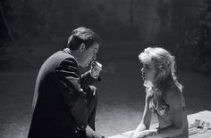 Stanley Kubrick with Sue Lyon, from 'Lolita', 1962
