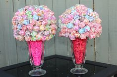 Bright and Fun Dum Dum Party Centerpiece, Candy Buffet, Party Favors. $25.00, via Etsy.