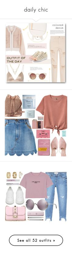 """""""daily chic"""" by westorossbitch ❤ liked on Polyvore featuring Jonathan Simkhai, adidas Originals, Want Les Essentiels de la Vie, T By Alexander Wang, RED Valentino, Summit, nooki design, Gypsy, Royce Leather and Korres"""