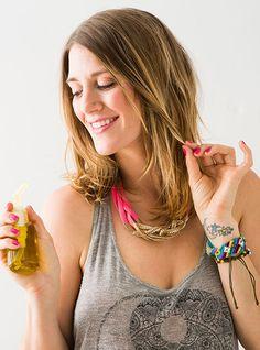 DIY a homemade hair serum with this tutorial.