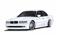 BMW 740i E38 Drawing by Vertualissimo.deviantart.com on @DeviantArt
