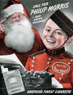 Community Post: 16 Vintage Tobacco Advertisements Featuring Santa Claus