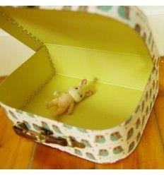 Valisette en carton Hiboux (M)