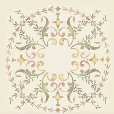 Stencils | 19th Century Ceiling Stencil Medallion | Royal Design Studio   great stencil site.