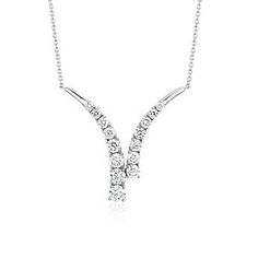 Blue Nile Mini Infinity Diamond Pendant in 14k Yellow Gold 8PdsJ