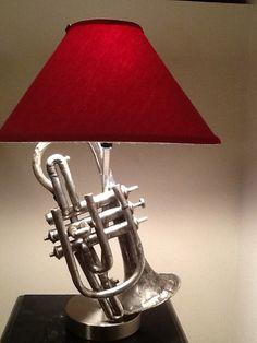 Antique LyonHealy Cornet LampLate 1800's or by MusicalLightingMN, $125.00