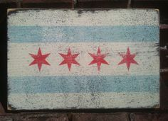 Rustic Chicago sign