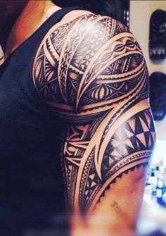 de476af0a Tribal arm tattoo #Filipinotattoos Cool Shoulder Tattoos, Mens Shoulder  Tattoo, Brown Tattoo Ink