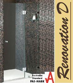 Wall To Wall Frameless Shower Screen - Two Panels A+B (790mm - 1440mm) - Renovation D Bathroom & Kitchen
