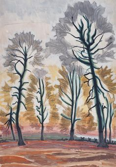 Charles Ephraim Burchfield  Autumn Trees  Watercolor on Paper