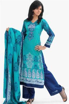Green Pakistani Lawn Trouser Suit. £35