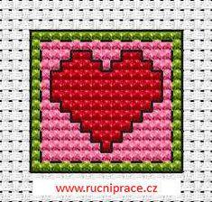 Heart perler bead pattern