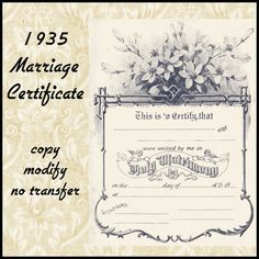 marriage certificates - Bing Images