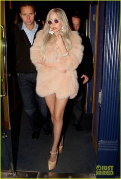 never thought I repin gaga's style but this coat is pretty amazing & the color's gorgeous!